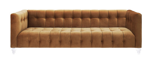 Antoinette Velvet Tufted Sofa Available in 4 Colors