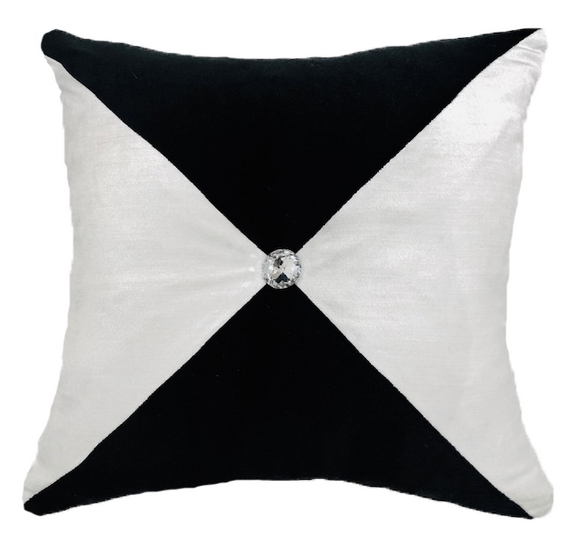 Black & White with Diamond Tufting Pillow
