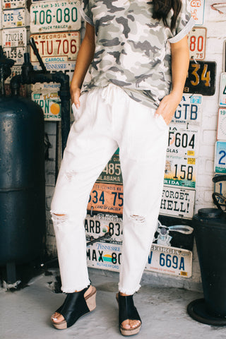 White Twill Pants
