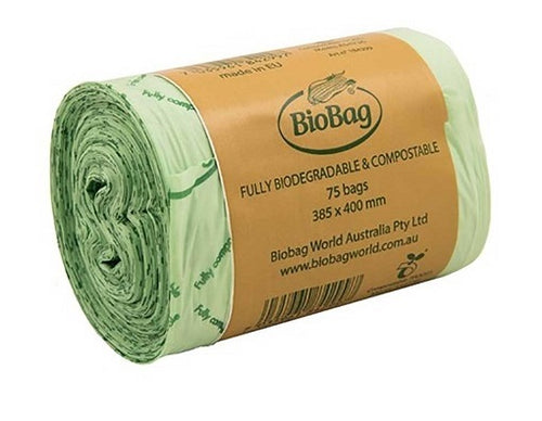 BioBag Compostable Bin Liner 8ltr Roll - 75 Bags