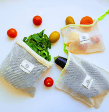 Load image into Gallery viewer, Reusable Mesh Produce Bags - Set of 3