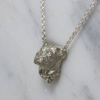 Silver English Bulldog Necklace