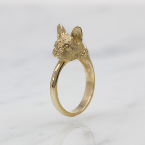Gold Frenchie Ring
