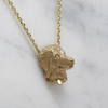 Gold Golden Retriever Necklace