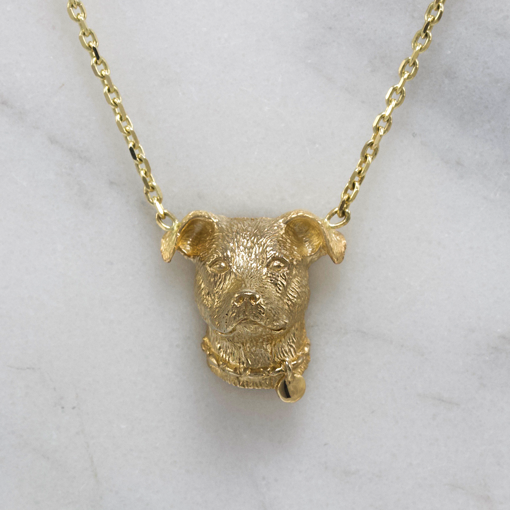 Gold Pitbull Necklace