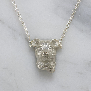 Silver Pitbull Necklace