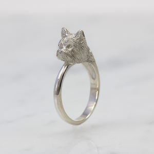 Silver Yorkie Ring