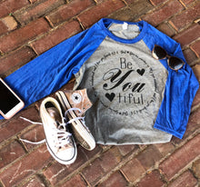 BeYoutiful Baseball Tee // 3/4 sleeve
