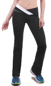 V Waist Pant Black/Charcoal/White by Bia Brazil Activewear