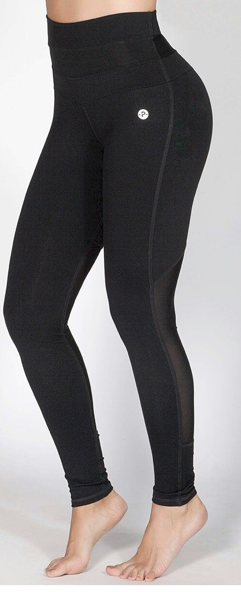 High Waisted Mesh Insert Leggings by Protokolo Sportswear