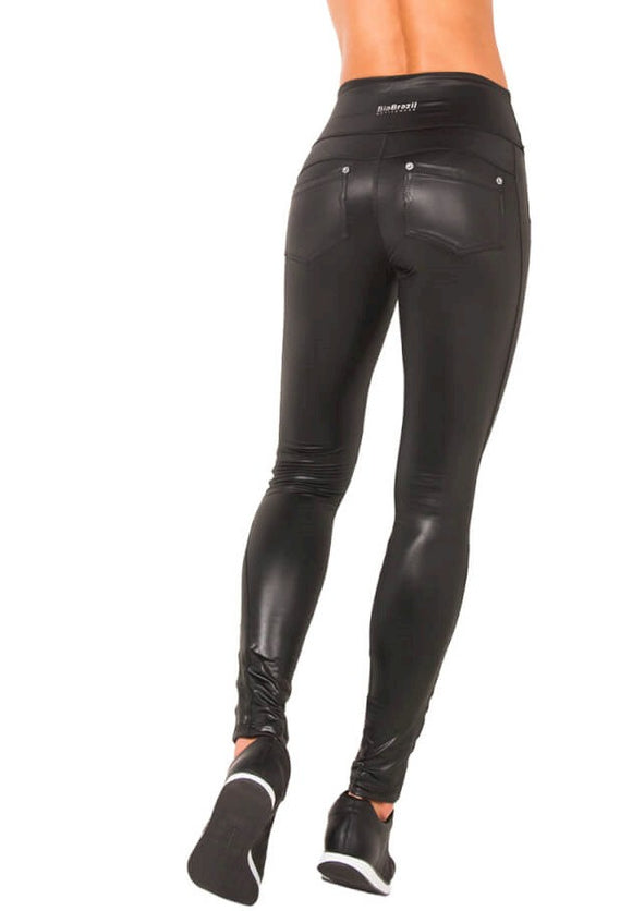 Bia Brazil Activewear Faux Leather Shine Legging