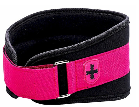 Womens Weight Lifting Belt Black/Pink by Harbinger