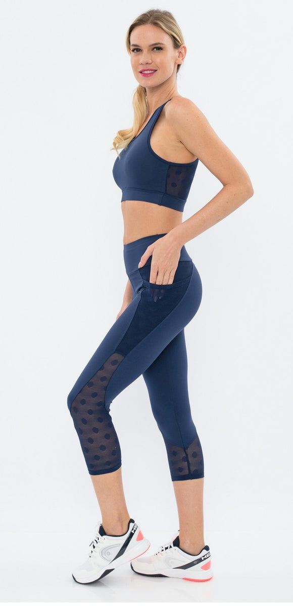 The Perfect Hope Navy Capri