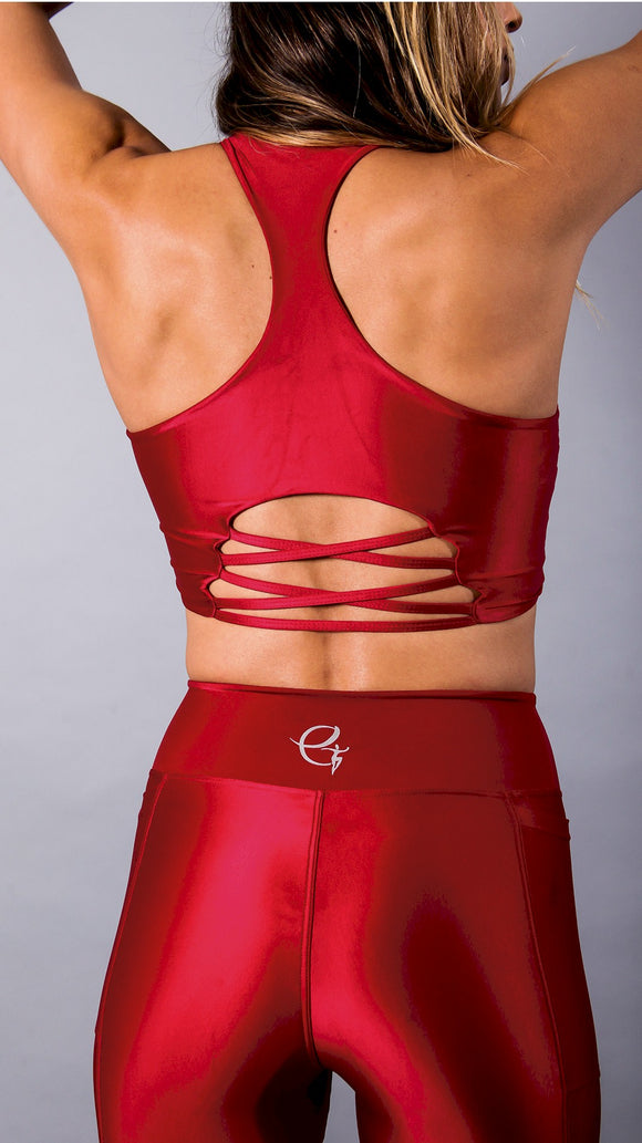 Red Divine Kaily Bra by Equilibrium Activewear