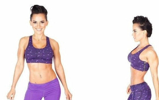 Purple Fishnet Bra with Swarovski Crystals by Body Rock Sport