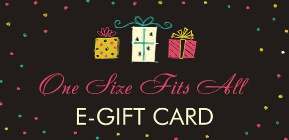 $50.00 eGift Card The One Size Fits All Gift