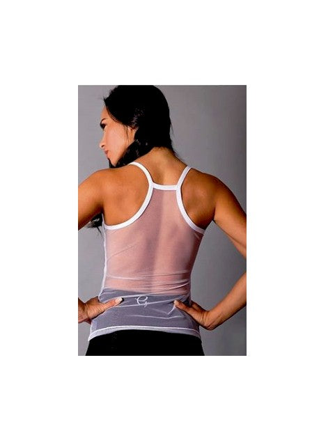 Long Mesh Back Tank Top by Equilibrium Activewear