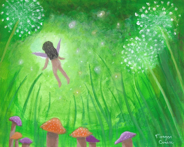 """Faery Dreams"" Acrylic Painting - 8x10 inches - Morgan Cerese Art"