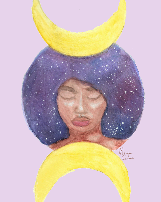Moon Goddess Print - 8x10 inches - Morgan Cerese Art