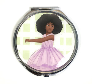 Afro Ballerina Compact Mirror - Morgan Cerese Art