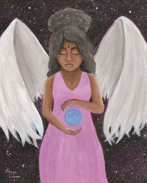 """Angel of Clarity"" Acrylic Painting - 8x10 inches - Morgan Cerese Art"