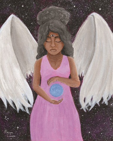 """Angel of Clarity"" Acrylic Painting - 8x10 inches"