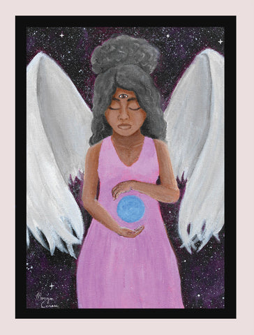 "Angel of Clarity 5""x7"" Print - Morgan Cerese Art"
