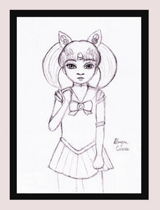 "Chibiusa Sketch 5""x7"" Print - Morgan Cerese Art"
