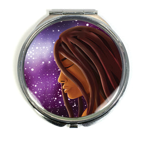 Cosmic Witch Compact Mirror - Morgan Cerese Art