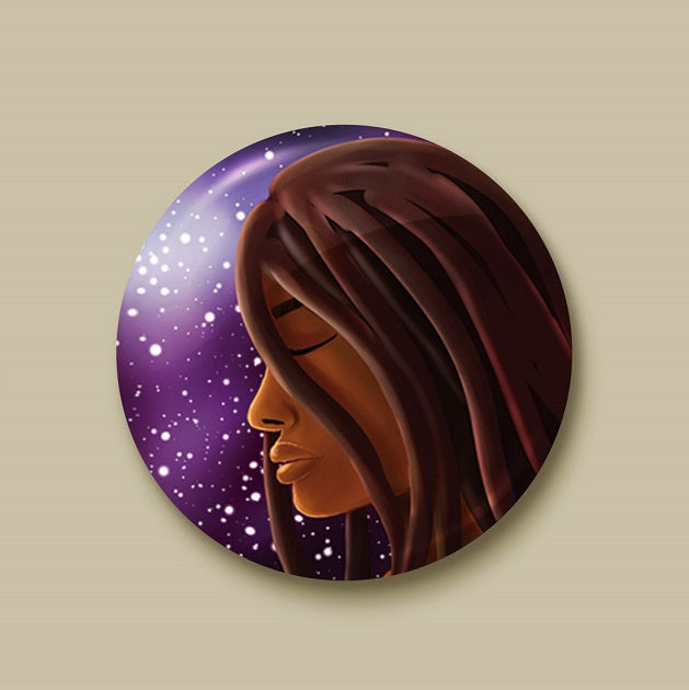 Cosmic Witch Pin-back Button - Morgan Cerese Art