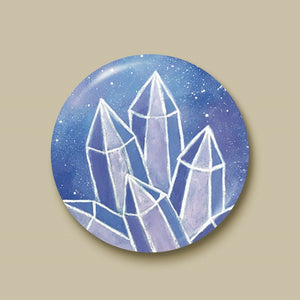 Crystalline Growth Pin-back Button