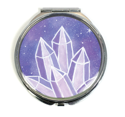 Crystalline Growth Compact Mirror - Morgan Cerese Art