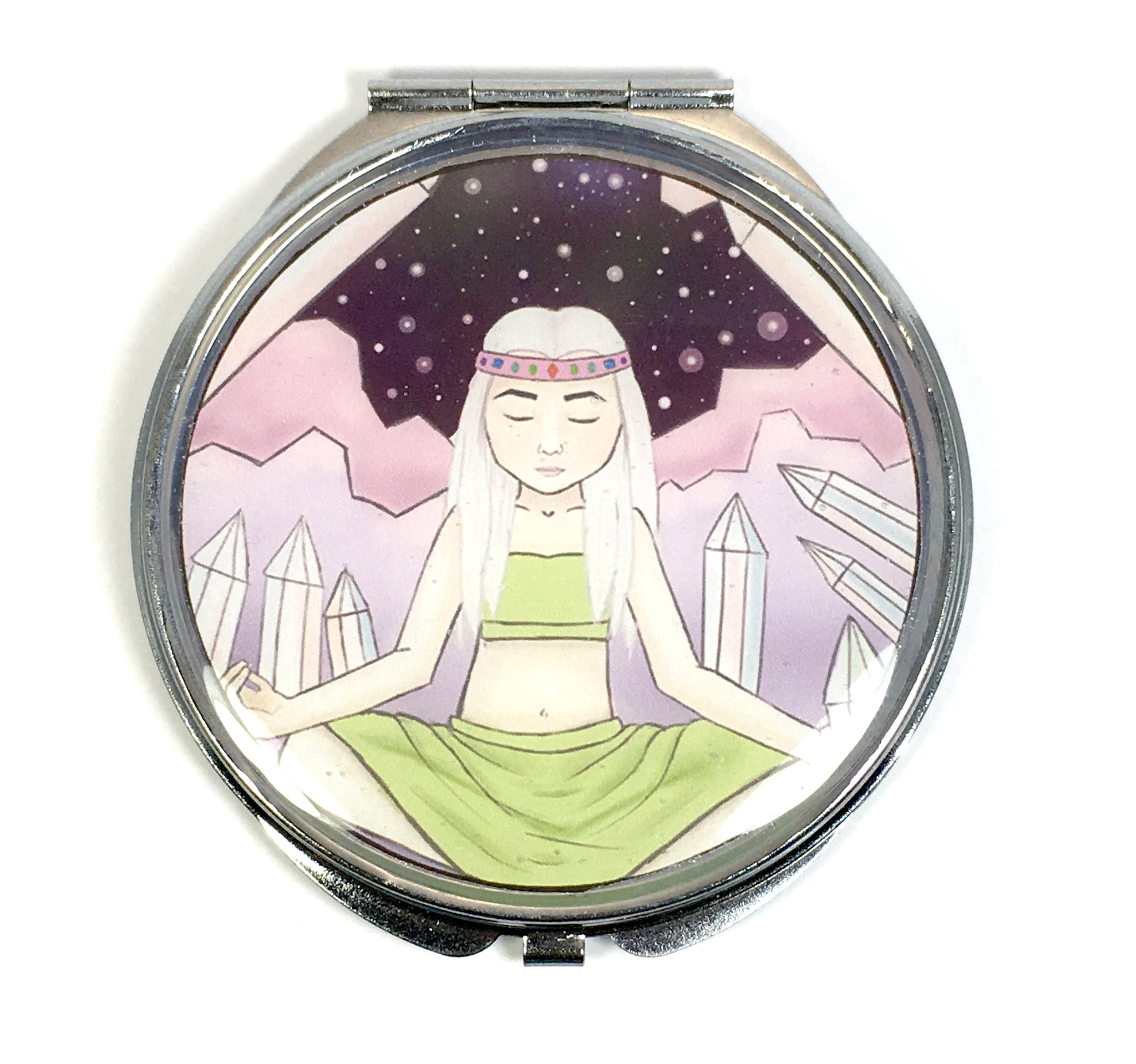 Crystal Witch Compact Mirror
