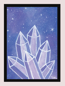 "Crystalline Growth 5""x7"" Print - Morgan Cerese Art"