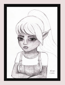 "The Elf 5""x7"" Print - Morgan Cerese Art"