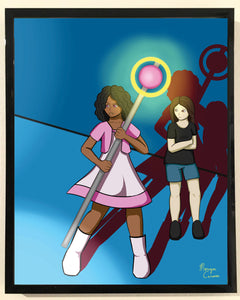 I've Got Your Back (Magical Girl Escort) Print - 8x10 inches - Morgan Cerese Art