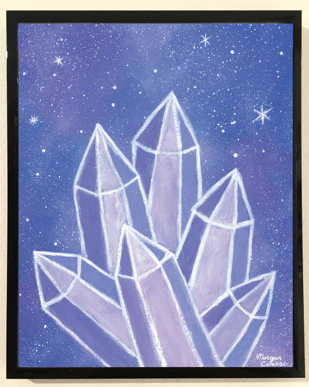 Crystalline Growth Print - 8x10 inches