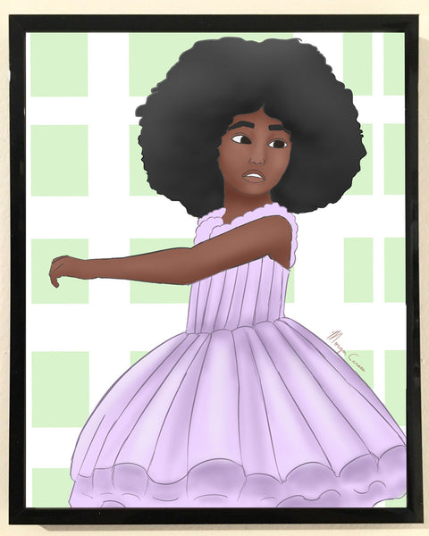 Afro Ballerina Print - 8x10 inches