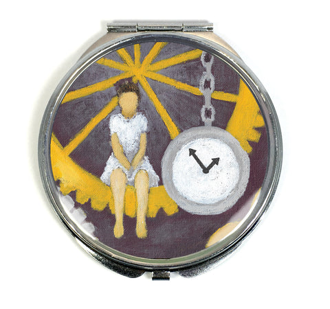 Gears of Time Compact Mirror