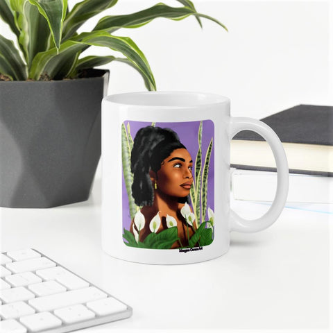 Growth 11oz 15oz Mug - Beautiful Black Women With Natural Hair - Morgan Cerese Art