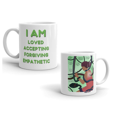 Heart Chakra - Anahata - Healing Art & Affirmation Mug - Morgan Cerese Art