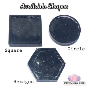 Black Tourmaline Resin Tray / Dish For Grounding and Protection - Morgan Cerese Art
