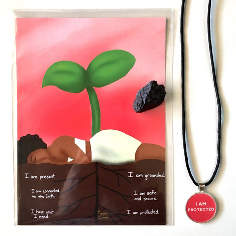 Root Chakra Crystal & Art Bundle - Morgan Cerese Art