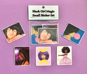 Black Girl Magic Small Sticker Set