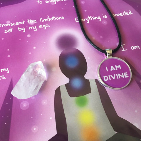 Crown Chakra Crystal & Art Bundle - Morgan Cerese Art