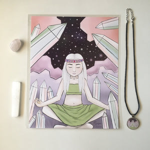 Self Care Meditation Crystal & Art Bundle - Morgan Cerese Art
