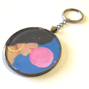 Afro Pop Keychain