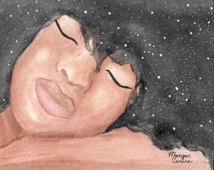 """Sleeping Beauty"" Watercolor Painting - 5x7 inches - Morgan Cerese Art"