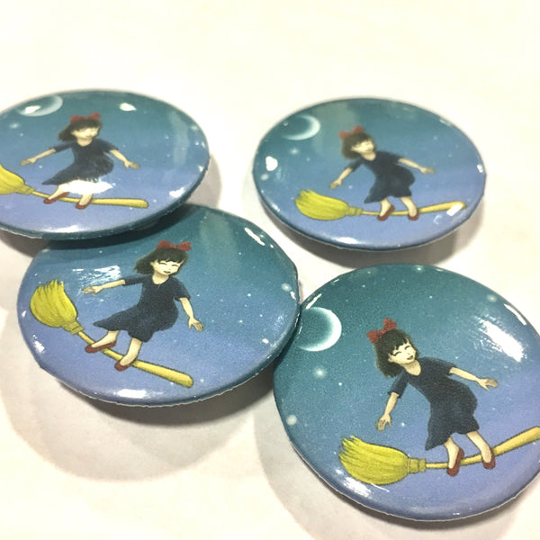 Little Witch Pin-back Button