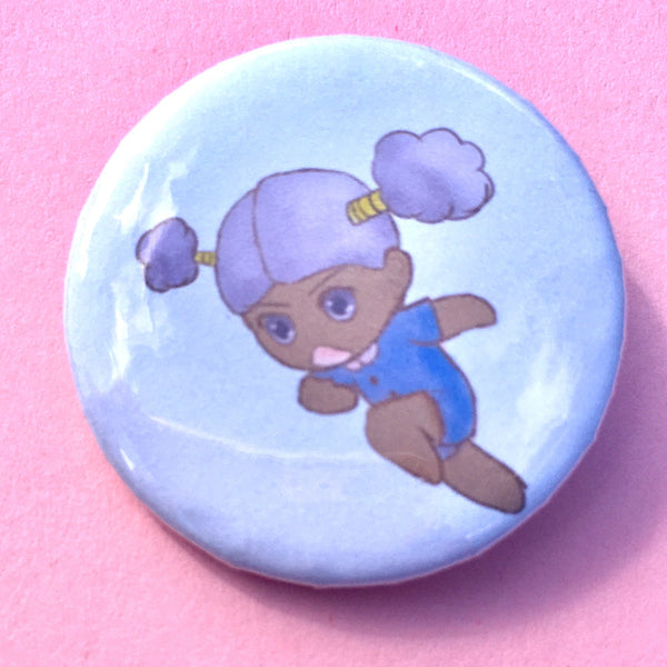 Kiki the Fairy Pin-back Button - Morgan Cerese Art